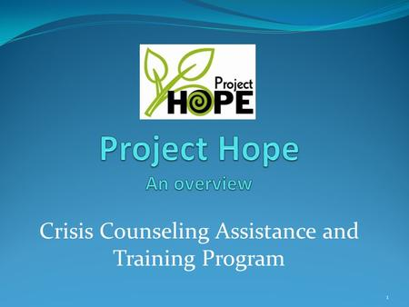 Crisis Counseling Assistance and Training Program 1.