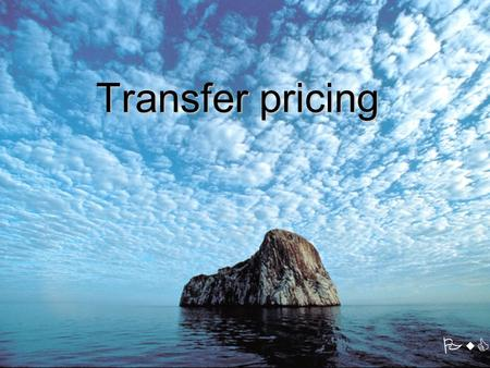 Transfer pricing PwC. 2 1.Background 2.Legislation 3.Transfer pricing methods 4.Transfer pricing documentation 5.Main issues of transfer pricing 6.PwC.