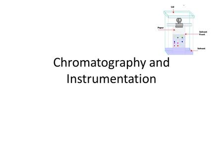 Chromatography and Instrumentation. Invented by a Russian Botanist Mikhail Tswett in 1903 He used chromatography to separate the colour pigments in plants.