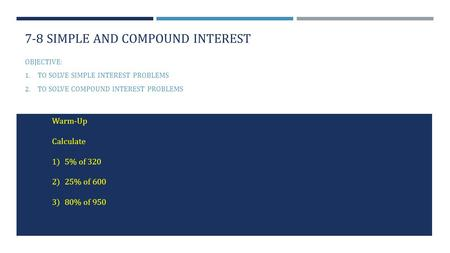 7-8 simple and compound interest