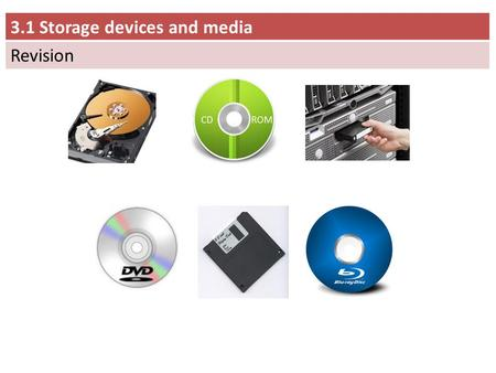 3.1 Storage devices and media