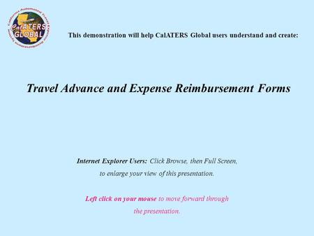 Travel Advance and Expense Reimbursement Forms