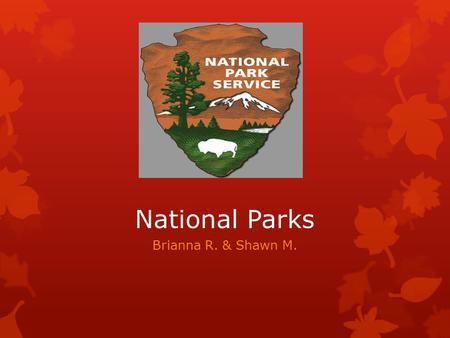 National Parks Brianna R. & Shawn M.. National Parks  A reserve of land that a state owns  84 million acres of protected National Park land  Over.