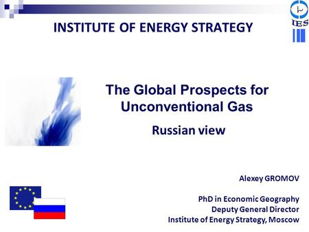 INSTITUTE OF ENERGY STRATEGY