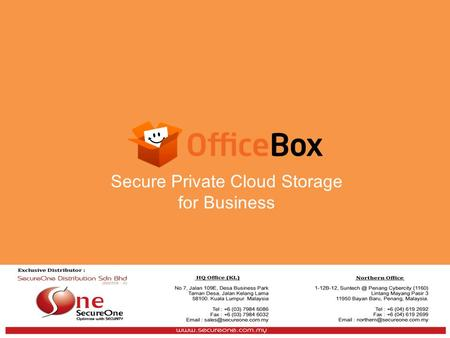 Secure Private Cloud Storage for Business. The Market Trend File Sharing Any Device Any Where Public clouds are good enough to personal users but security.
