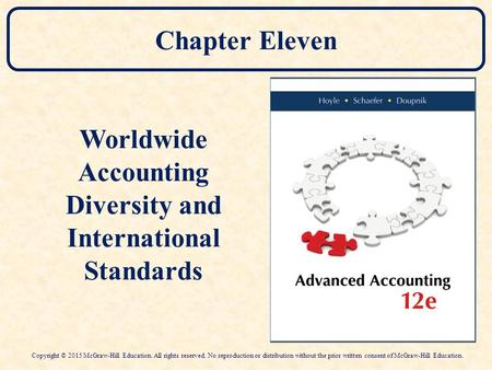 Worldwide Accounting Diversity and International Standards