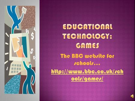 The BBC website for schools…  ools/games/