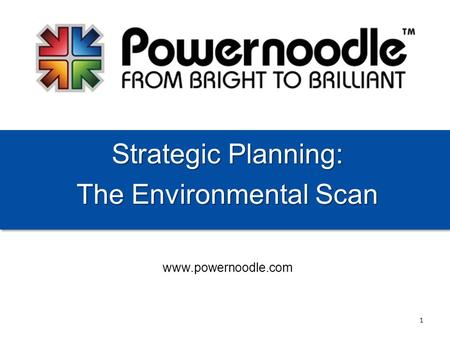 Www.powernoodle.com Strategic Planning: The Environmental Scan 1.