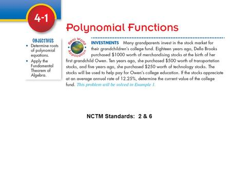 NCTM Standards: 2 & 6. Appreciation The increase of value of an item over a period of time. The formula for compound interest can be used to find the.