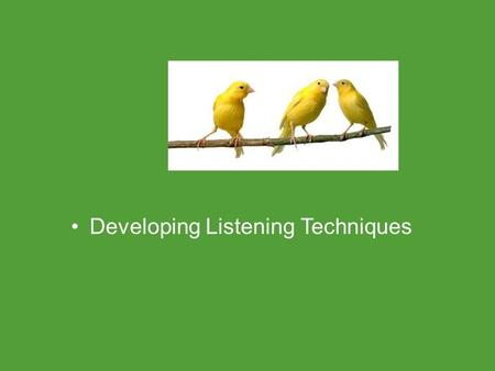Developing Listening Techniques Common Core Standards Addressed! CCSS. ELA Literacy. RST.1 1 ‐ 12.10By the end of grade 12, read and comprehend science/technical.