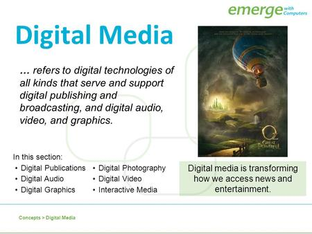 what is digital media broadcasting