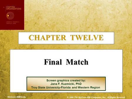 Final Match CHAPTER TWELVE Screen graphics created by: