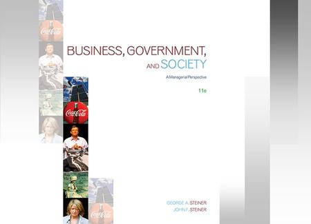 The Study of Business, Government, and Society