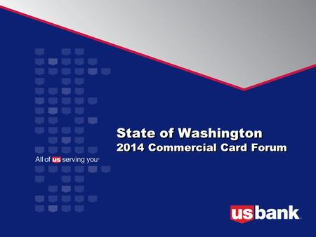 State of Washington 2014 Commercial Card Forum