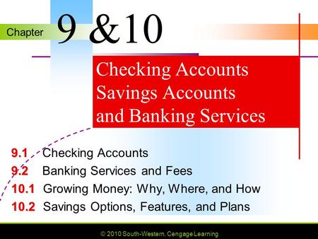 Checking Accounts Savings Accounts and Banking Services
