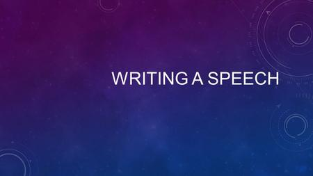 WRITING A SPEECH. If you are asked to write a speech on your On Demand Writing test, it will more than likely be a persuasive speech. You should always.
