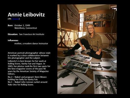 Annie Leibovitz IPA LibvIts