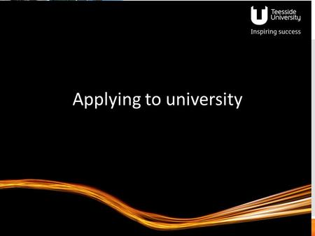 Applying to university
