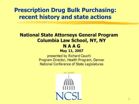 1 prescription drug bulk purchasing recent history and state
