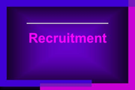 Recruitment. Introduction Recruitment –Once an organization identifies its human resource needs through employment planning, it can begin the process.