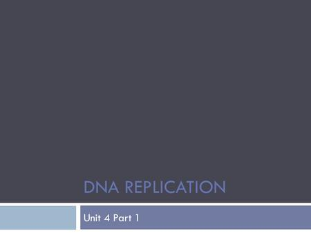DNA REPLICATION Unit 4 Part 1. Review of DNA structure  Deoxyribonucleic Acid  Basis for all living things  Makes proteins which make traits eye color,