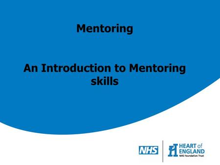 An Introduction to Mentoring skills