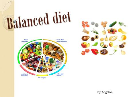 Balanced diet By: Angelika.