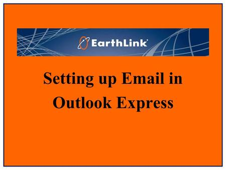 "Setting up Email in Outlook Express. Select ""Tools"" from the toolbar menu."