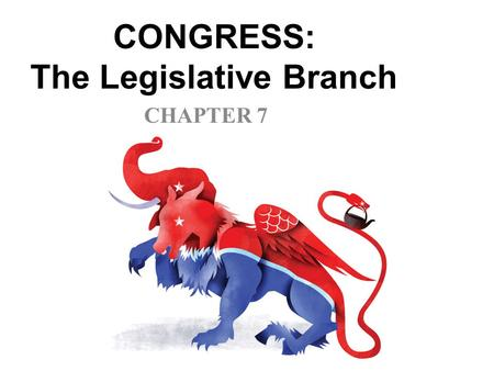 CONGRESS: The Legislative Branch CHAPTER 7 CONGRESSIONAL STRUCTURE Each chamber has a majority party and a minority party The majority party chooses.