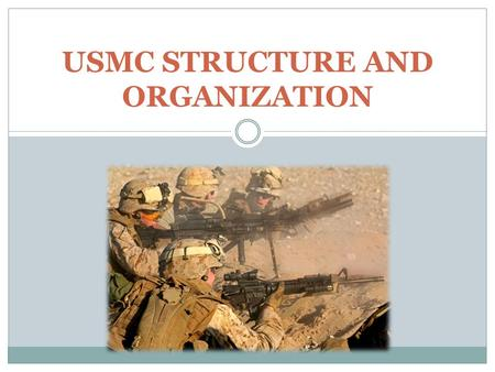 USMC STRUCTURE AND ORGANIZATION