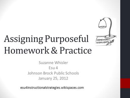 Assigning Purposeful Homework & Practice