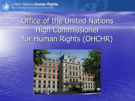 Office of the United Nations High Commissioner for Human Rights (OHCHR)