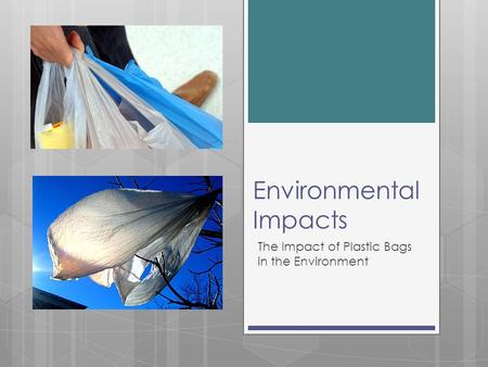 Environmental Impacts The Impact of Plastic Bags in the Environment.