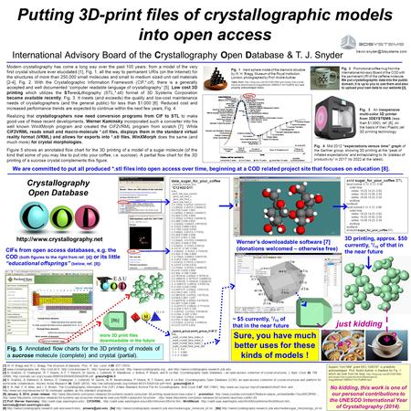 COD (CRYSTALLOGRAPHY OPEN DATABASE) and PCOD (PREDICTED