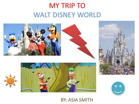 MY TRIP TO WALT DISNEY WORLD BY: ASIA SMITH. Landing at Disney The landing was fun!!! It felt like we were on a ride at the fair!!! Our landing was at.