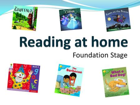 Reading at home Foundation Stage.