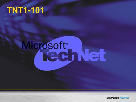 TNT1-101. Microsoft Exchange Server 2003 Disaster Recovery Michael J. Murphy TechNet Presenter