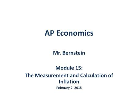 The Measurement and Calculation of Inflation