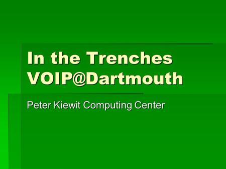 University of California, Irvine IP Telephony Strategy and