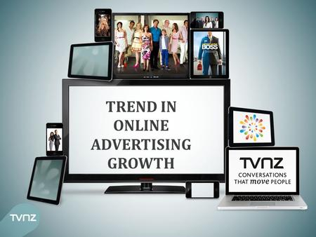 TREND IN ONLINE ADVERTISING GROWTH. 3 YEAR ADVERTISING SPEND TREND TV STATIC, INTERACTIVE GROWING, NEWSPAPERS DECLINING Looking at the 3 year trend in.