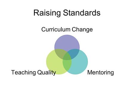 Raising Standards Curriculum Change Mentoring Teaching Quality.