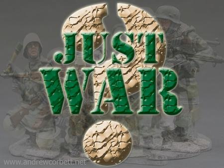 Today we will learn about Christian Just War theory and how that relates to modern wars.