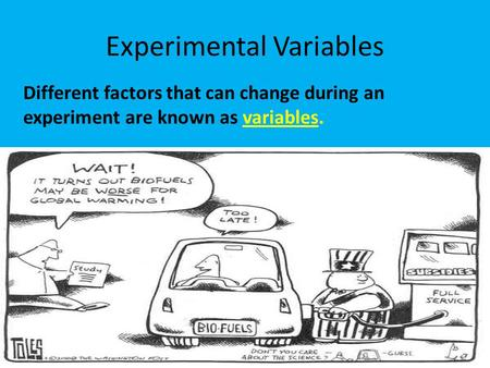 Experimental Variables