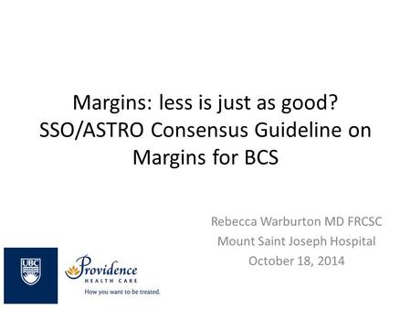 Margins: less is just as good