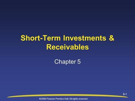 short term investment