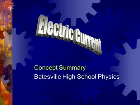 "Concept Summary Batesville High School Physics. Potential Difference  Charges can ""lose"" potential energy by moving from a location at high potential."