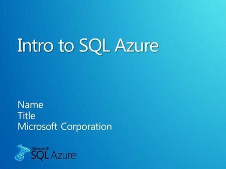 Subtitle color From Windows Azure From Outside Microsoft Datacenter From Outside Microsoft Datacenter & Windows Azure Application / Browser Windows.