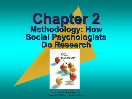 Methodology: How Social Psychologists Do Research