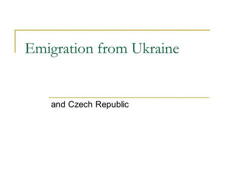 Emigration from Ukraine and Czech Republic. 2. Migration between Ukraine and CIS and Baltic states in 1990-2005, th.