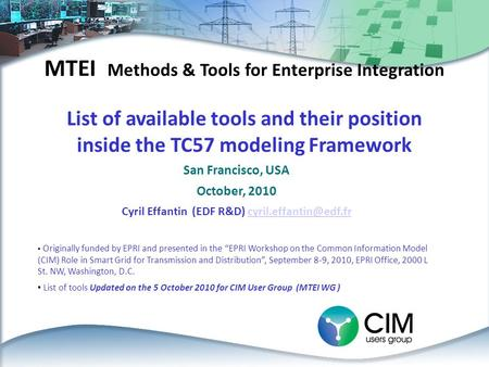 MTEI Methods & Tools for Enterprise Integration
